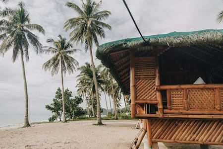 Beachfront Bamboo Hut 1