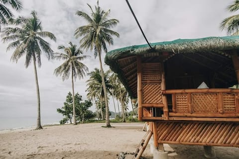 Beachfront Bamboo Hut 1