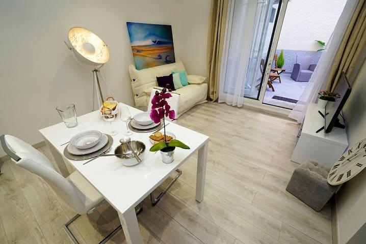 Appart avec patio entre Mer et Réserve de Sigean - Sigean - Appartement