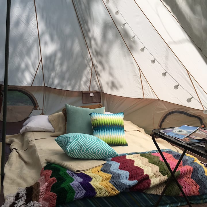 "Sunset Yurt Tent at Rocky Top ""Preserve"""