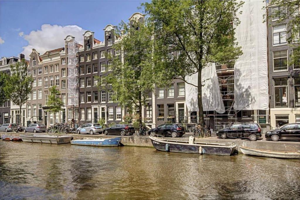 Facade of the flat, prinsengracht.