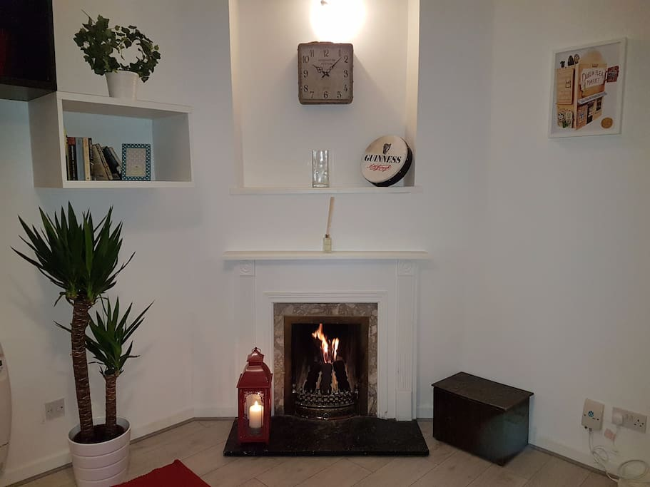 Our cosy traditional fireplace