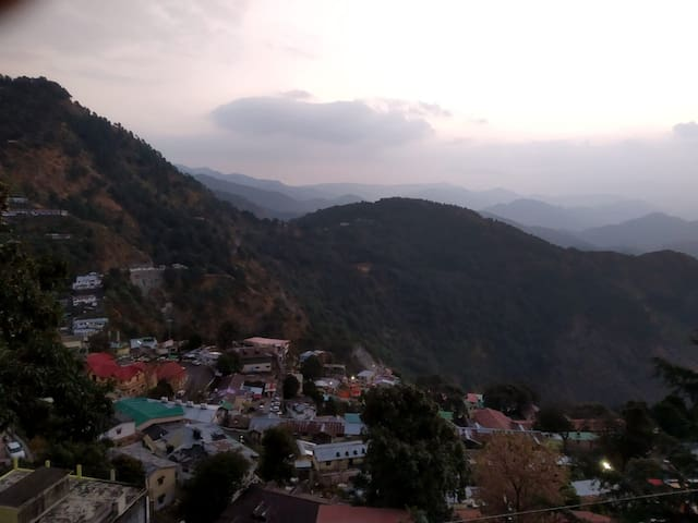 Sunrise vew from the stay at Nainital