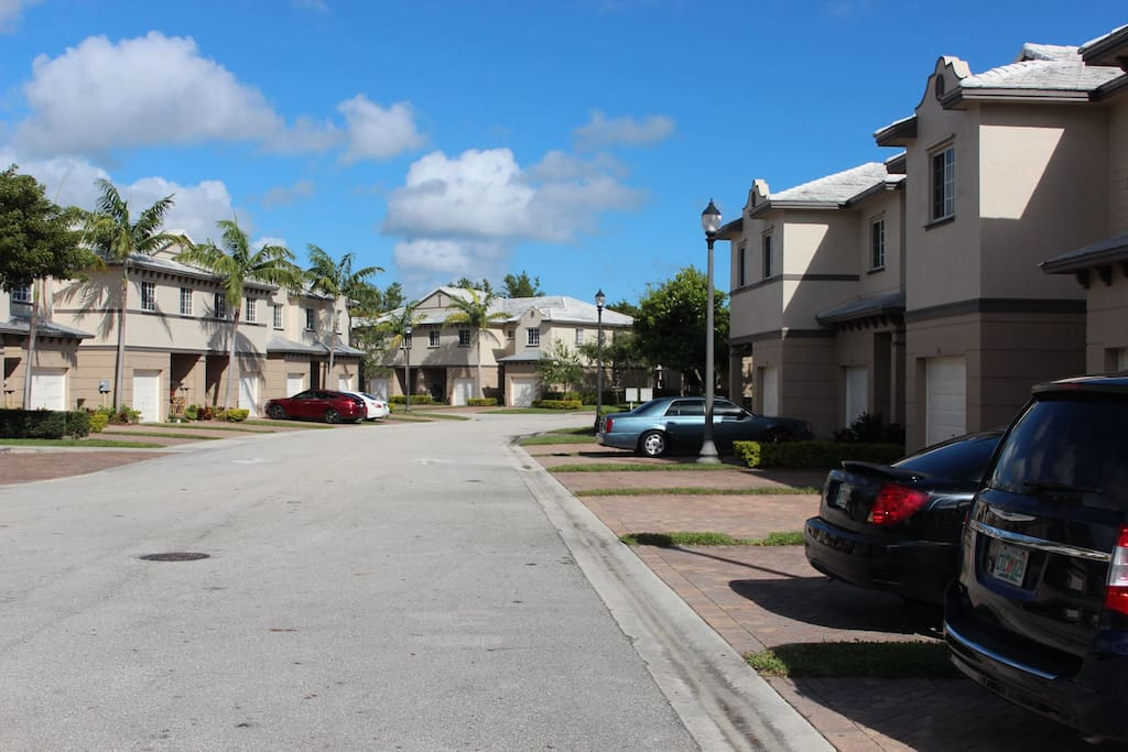 The street where the townhouse is located