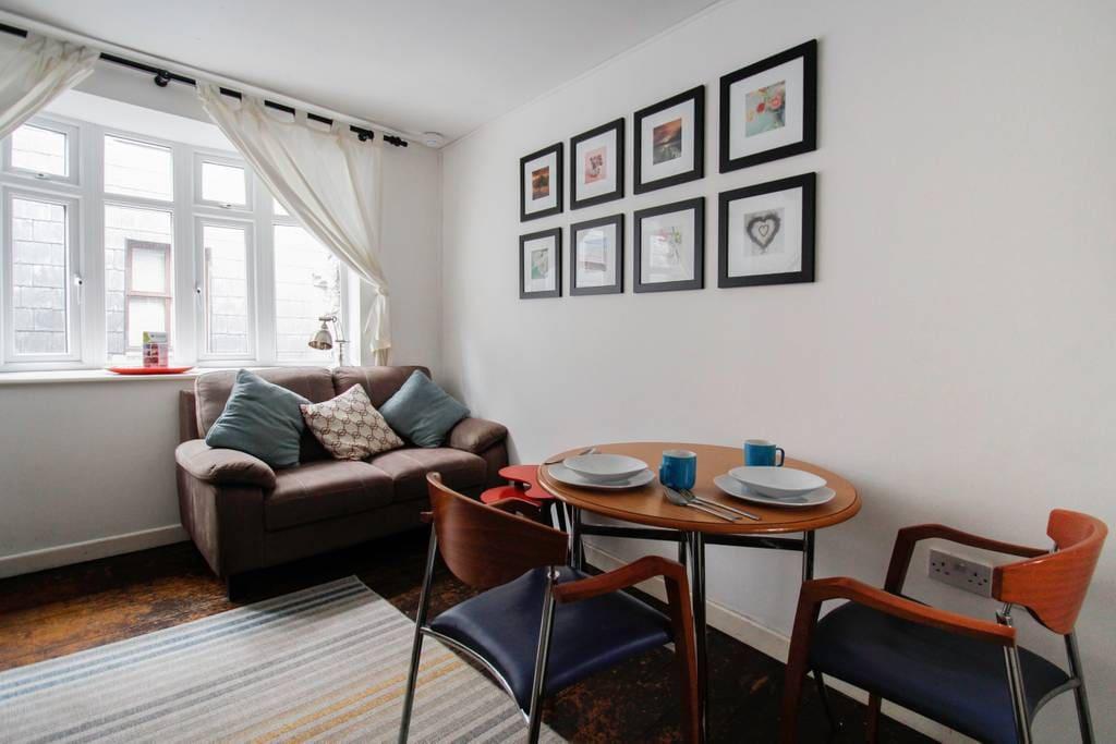 Living room overlooking Kirwan's lane.