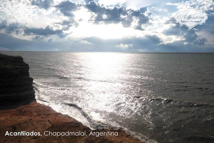 Cabañas con terrazas al mar! - General Pueyrredón - Cottage