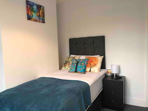 Large single room 5mins from trains to London