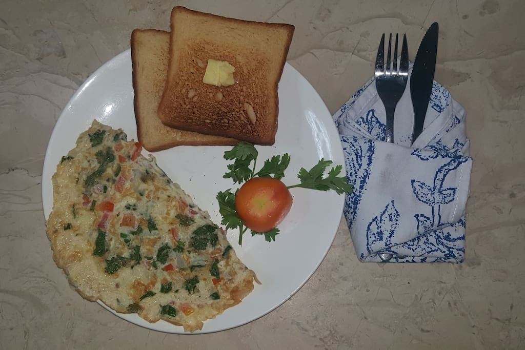 A  Complimentary Hearty American  Breakfast  Served Daily