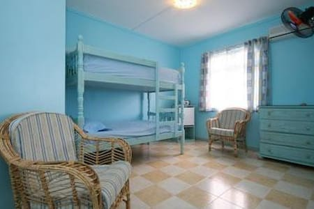Bedroom with Bunk beds ,aircon,fan. - Blue Bay - Villa