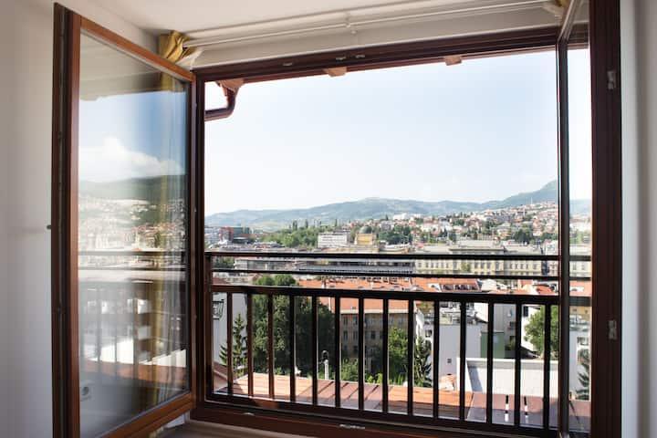 Cozy loft apartment with a unique view