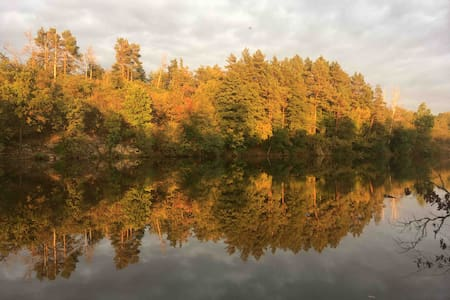 Уникальный домик  на берегу  речки с удобствами