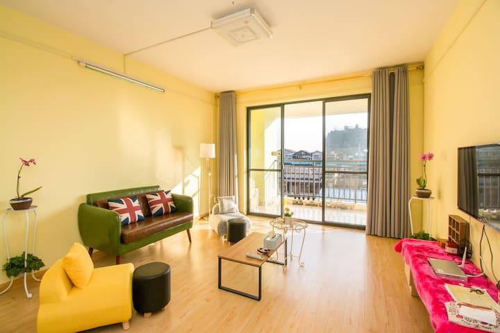 市中心热门景点环抱其中三室美景公寓 - Guilin - Flat