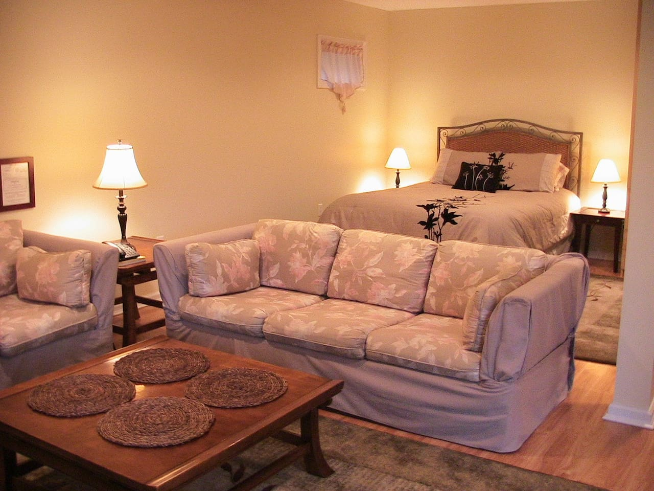 Relax in this spacious Studio apartment with separate living and sleeping area!