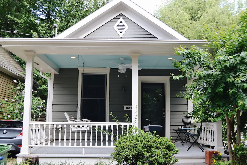 The front porch is perfect for socializing or unwinding.  The friendly neighbors are certain to make you feel part of the community.