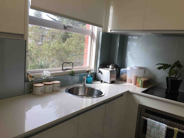 Fully equipped kitchen, dishwasher, fully stocked pantry. Full size fridge.  Everything you would need to cook for yourselves.  Breakfast cereals etc provided. Help yourself to pantry and fridge.