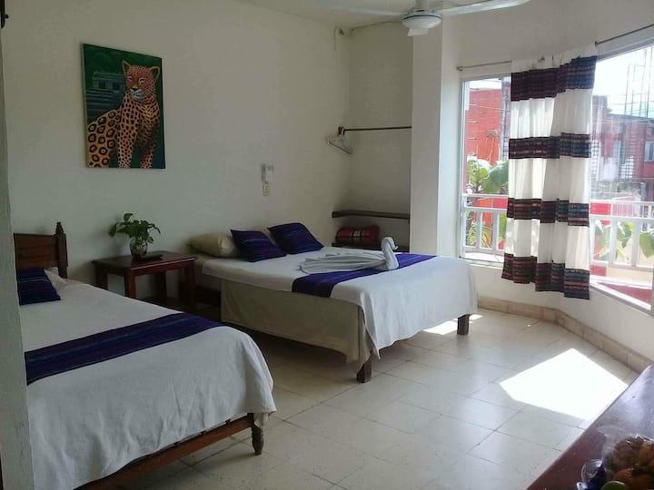 Hotel Canek Habitación grade 4 camas