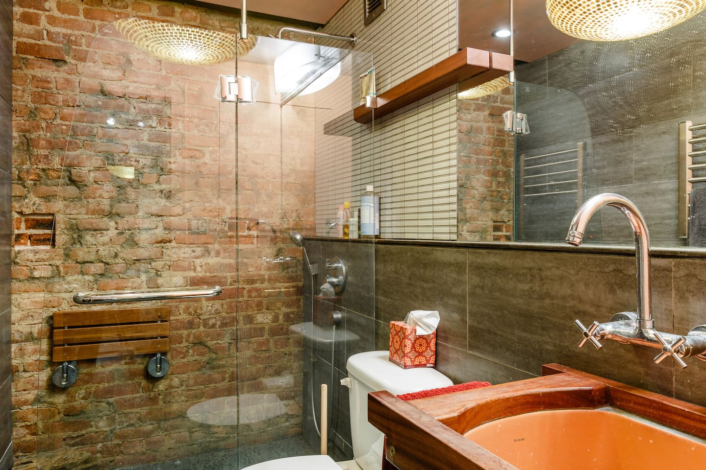 Welcome to your relaxation station. Or maybe it's just a nice bathroom.. Either way, check it out!