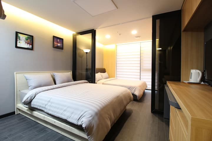 L6[DFS 200m Airport 2.4km] 2 Queen Beds Residence