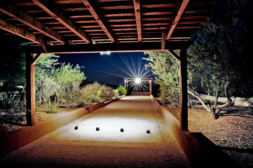 Fun bocce court!