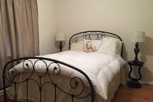 Private Bedroom; Queen size bed with down cover