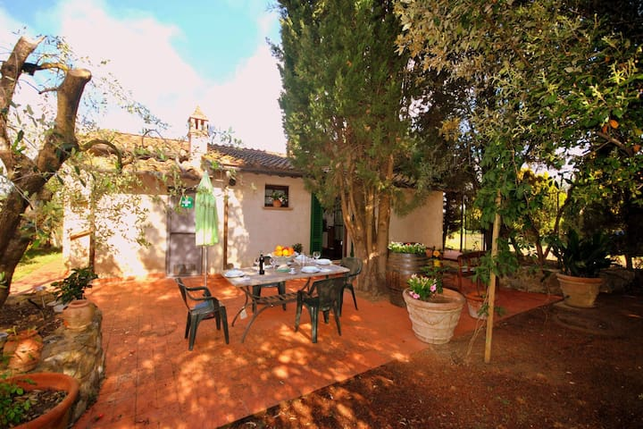 Farmhouse  with pool on the edge of the Chianti area on a hill overlooking Siena