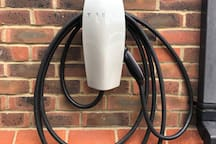 Tesla fast charger available at extra charge  £10