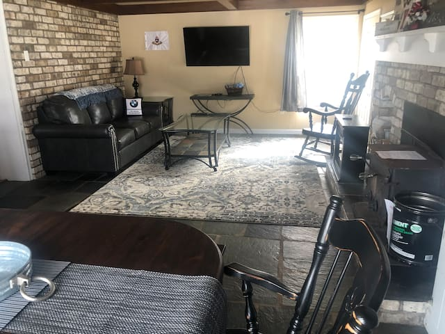 Hearth room with dining room table.