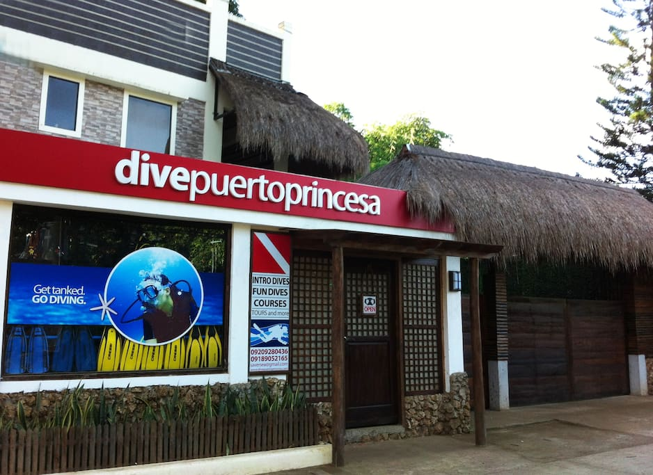 If you wish to go scuba diving, our dive shop is just a knock away!