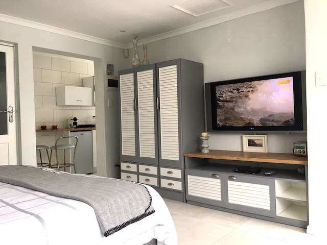 Flat TV with a large screen