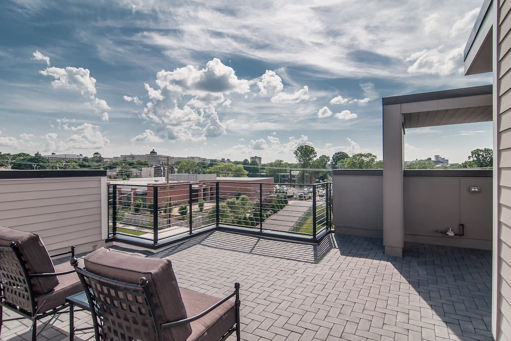 Enjoy big-sky views from the rooftop deck