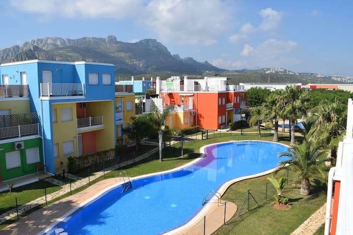 Apartamento de playa en PLANTA BAJA con piscinas - El Verger - Wohnung