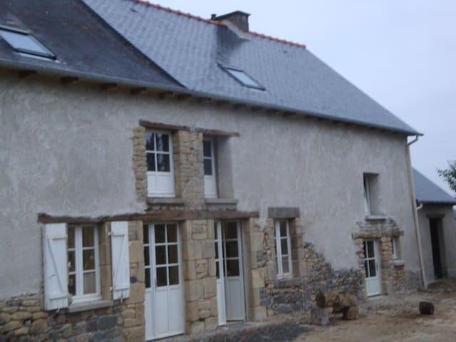 Chambre Bleue dans maison de caractère au calme - Saint-Thual - Huis