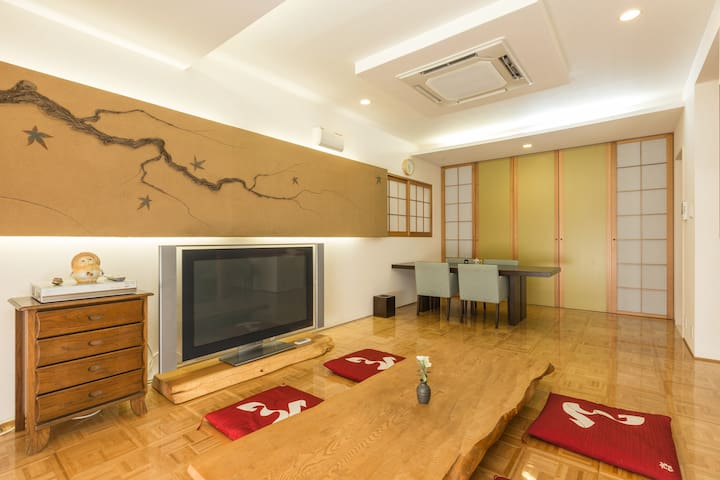 Private villa with a peaceful Japanese garden