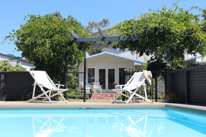 Guests have private use of the pool and surrounds.
