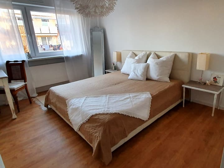 Haus 15, (Offenburg), Ferienhaus mit Garten, 100qm, 3 Schlafzimmer, max. 6 Personen