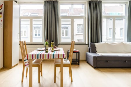 Bright apartment, bustling district - Ixelles - Apartment
