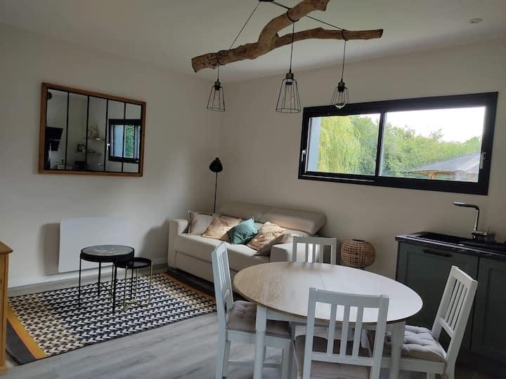 Charmant logement ossature bois avec toit terrasse
