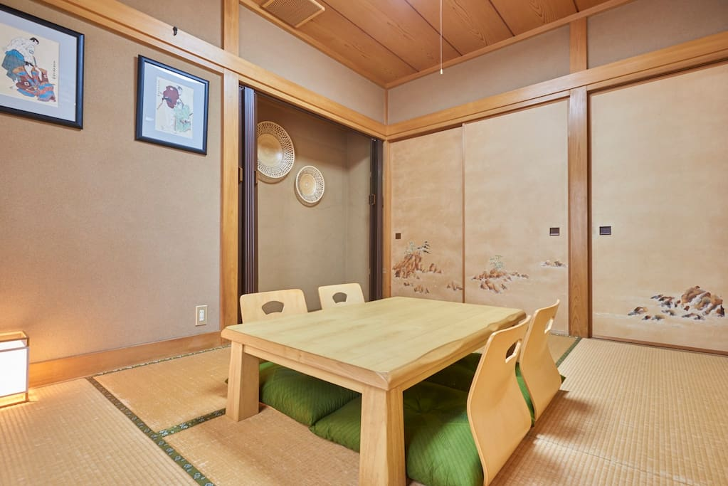 Tatami room #2 w/ table for 4 guests