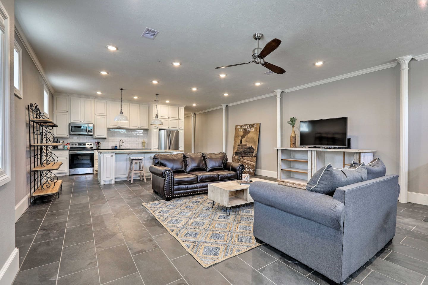 Treat yourself to an upscale stay at this Galveston vacation rental.