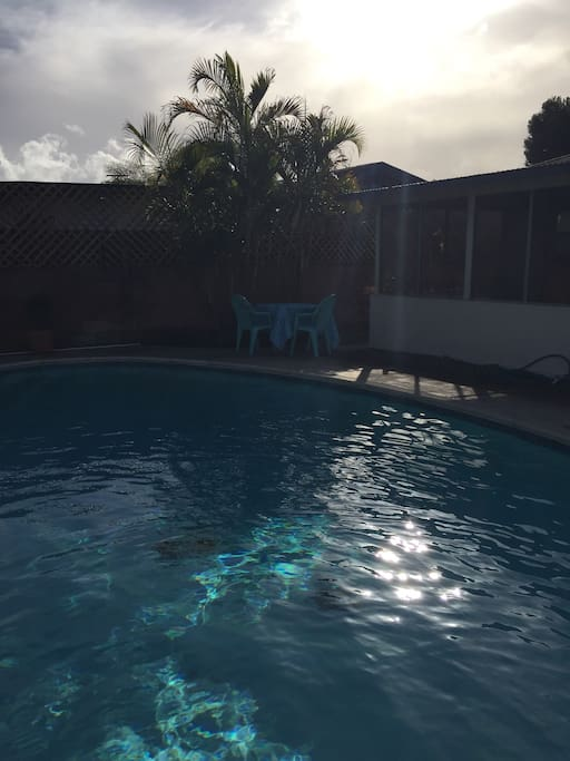 Beautiful sparkling pool