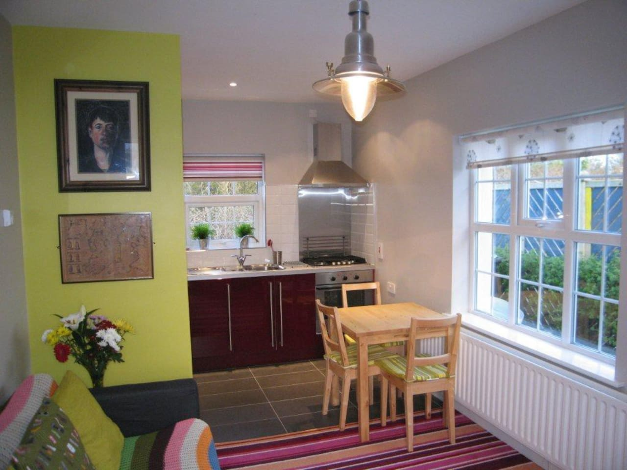 The Living Room Kitchen is cosy and is the perfect place to eat, relax and prepare an evening meal.