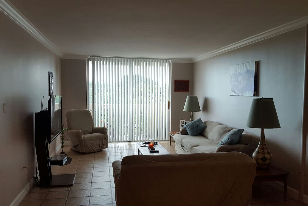 Living Area with a balcony!