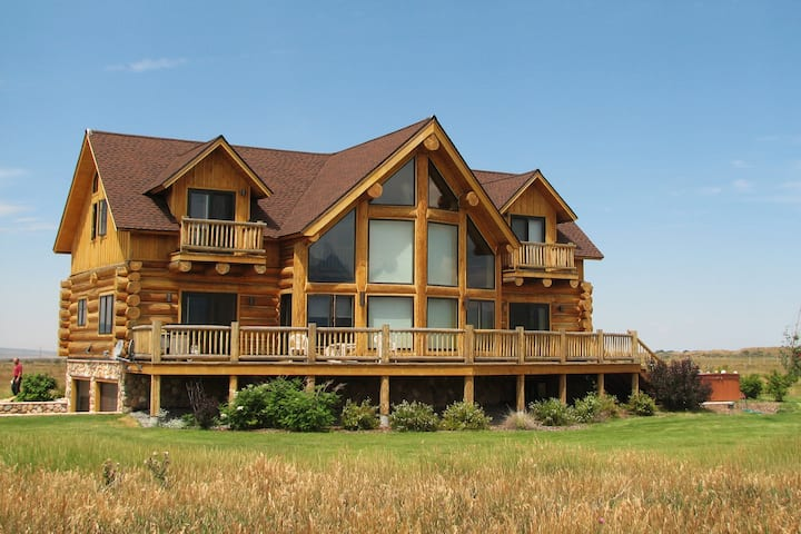 Huge Log Cabin on 20 Acres with Teton Views!