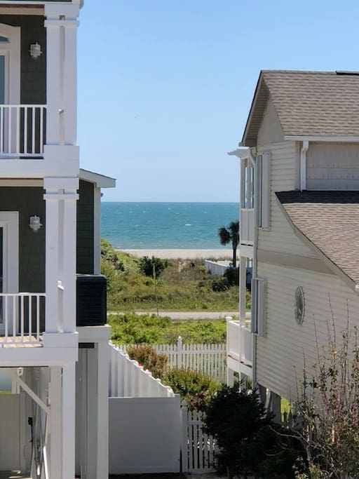 Gorgeous beach view from the front of the house. You can see the ocean all day, even when you're at home!