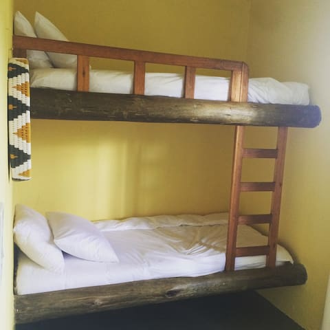 The third room as two bunks.