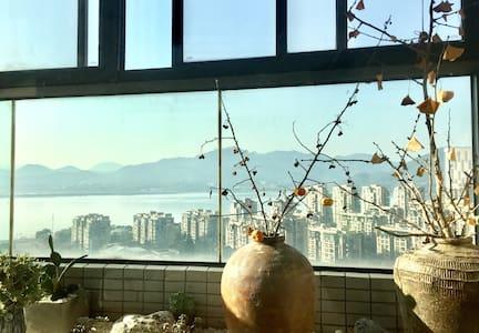 270度全落地玻璃窗观钱塘山水领西湖群山之美近西湖虎跑景区仅一江之隔 - Hangzhou