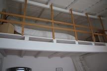 Mezzanine, double bed