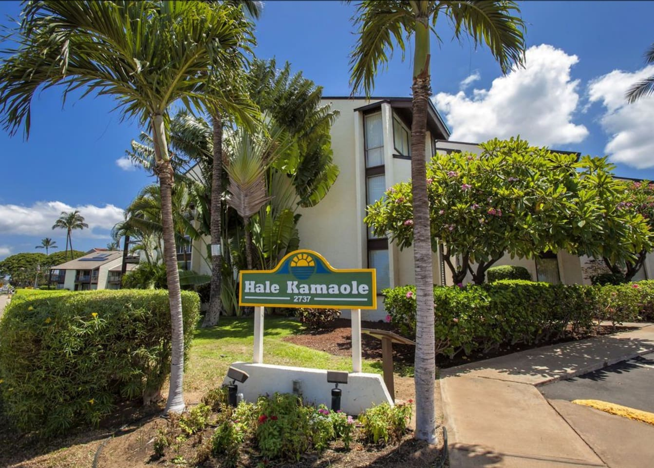 Hawaiian-style 1 BR Condo - steps from the beach!