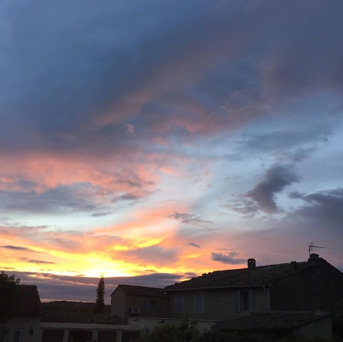House+Sunset