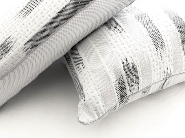 Premium quality pillows for a great night's sleep. Extra pillows are kept in the closet as well.